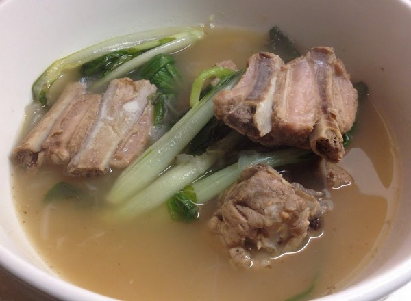 Spare Ribs Soup and Pechay