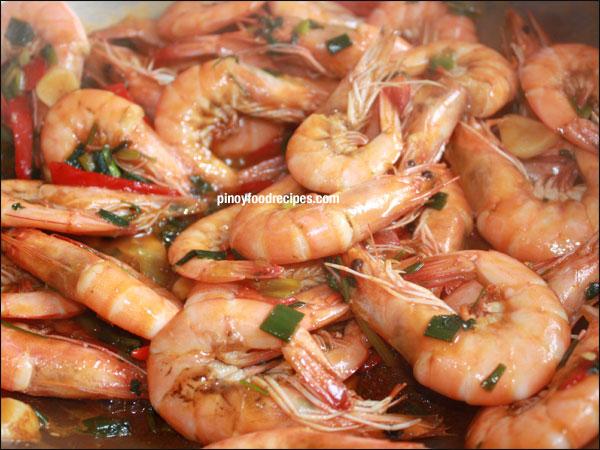 Spicy Stir-Fried Prawn | Filipino Food
